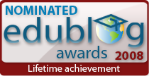 Edublogger Lifetime nominee